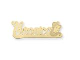 Personalized Disney Belle Nameplate (up to 9 Letters) - Chain Included style: XNA493GP