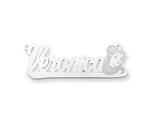 Personalized Disney Belle Nameplate (up to 9 Letters) - Chain Included style: XNA493SS