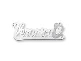 Personalized Disney Belle Nameplate (up to 9 Letters) - Chain Included style: XNA493W