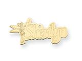 Personalized Disney Tinker Bell Nameplate (up to 9 Letters) - Chain Included style: XNA495GP
