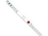 Sterling Silver Polished Medical Curb Link Id Bracelet style: XSM167
