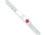 Sterling Silver Polished Medical Curb Link Id Bracelet style: XSM169