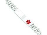 Sterling Silver Polished Medical Curb Link Id Bracelet style: XSM171