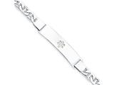Sterling Silver Non-enameled Medical Id Anchor Link Bracelet style: XSM35N