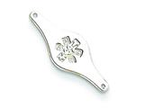 Sterling Silver Non-enameled Medical Id Plate Tag style: XSM74N