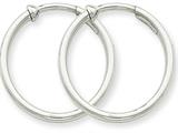 14k White Gold Non-pierced Earring Hoops Earrings style: XWE129