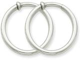 14k White Gold Non-pierced Earring Hoops Earrings style: XWE135