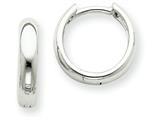 14k White Gold Hinged Hoop Earrings style: XY1123