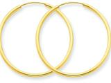 14k 1.5mm Polished Round Endless Hoop Earrings style: XY1161