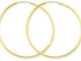 14k 1.5mm Polished Round Endless Hoop Earrings style: XY1164
