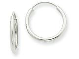 14k White Gold 1.5mm Polished Endless Hoop Earrings style: XY1181