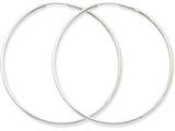 14k White Gold 1.5mm Polished Endless Hoop Earrings style: XY1190