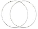 14k White Gold 1.5mm Polished Endless Hoop Earrings style: XY1191
