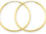 14k 1.25mm Endless Hoop Earring style: XY1206