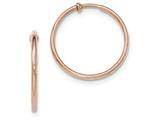 14k Rose Gold Non-pierced Hoop Earrings style: XY1233