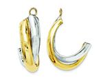14k Two-tone Polished Double J-hoop Earring Jackets style: XY660