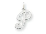 14kw Die Struck Initial P Charm style: YC249P