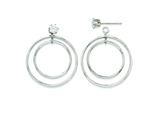 14k White Gold Double Hoop Earring Jackets style: YE1088