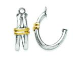 14k Two-tone J Hoop Earring Jackets style: YE1495