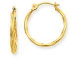 14k Twist Hoop Earrings style: YE1500
