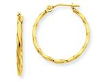 14k Twist Hoop Earrings style: YE1502