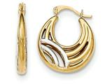 14k W/rhodium Fancy Hoop Earrings style: YE1680