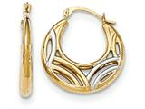 14k W/rhodium Fancy Hoop Earrings style: YE1681
