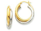 14k Double Hoop Earrings style: Z797