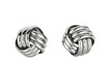 Sterling Silver Love Knot Earrings 11mm style: 420030