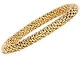 Sterling Silver 7.25 Inch Yellow Plated Stretchy Bracelet