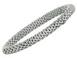Sterling Silver 7.25 Inch Stretchy Bracelet
