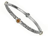 Phillip Gavriel 18K Yellow Gold and Sterling Silver Bangle With Four Citrine Gems