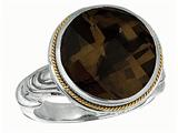 Phillip Gavriel 18K Yellow Gold And Sterling Silver Smokey Quartz Ring