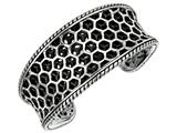 Sterling Silver Honeycomb Texturized Cuff Bangle