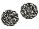 Sterling Silver Round Marcasite Earrings