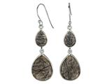 Phillip Gavriel Rutilated Quartz Graduated Teardrop Station Earrings