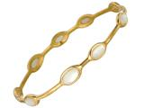 Phillip Gavriel 8 Inch Stackable Slip On Bangle With Mother Of Pearl Stations