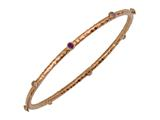 Phillip Gavriel 7.25 Inch Hammered Stackable Slip On Bangle With Amethyst Stones