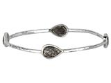 Phillip Gavriel 7.5 Inch Rutilated Quartz Station Bangle