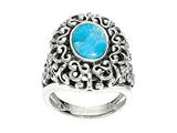 Sterling Silver Simulated Turquoise Ring