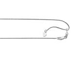 Ruthenium Plated 22 Inch Diamond Cut Adjustable Spiga Chain with Lobster Clasp and Heart