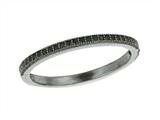 925 Sterling Silver Ruthenium Plated Stackable Ring with Black Micropave CZ`s style: 460339
