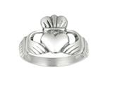 925 Sterling Silver Polished Hands Holding Heart Crown Top Ring style: 460341