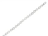 "Sterling Silver 7.25"" Infinity Shiny Link Ladies Bracelet"