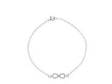 "Sterling Silver 7"" Infinity Shiny Cable Chain Ladies Bracelet style: 460402"