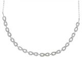 Sterling Silver Infinity Shiny Rolo Link Ladies Necklace
