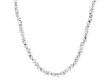 Sterling Silver Shiny Diamond Cut Ladies Necklace style: 460411