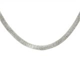 Sterling Silver Shiny Textured Necklace