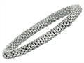 Sterling Silver 7.25 Inch Stretchy Bracelet