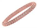 Sterling Silver 7.25 Inch Pink Plated Stretchy Bracelet